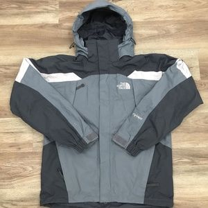 The North Face Mens HyVent Ski Jacket Shell Hooded